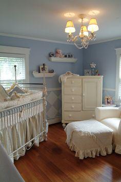Baby nursery in blue