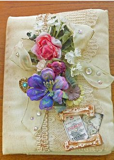 titanic rose removable vintage lace journal cover | Flickr - Photo Sharing!