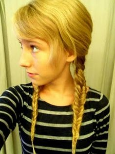 I never thought of doing pigtails with the fish tail braid for a twist!