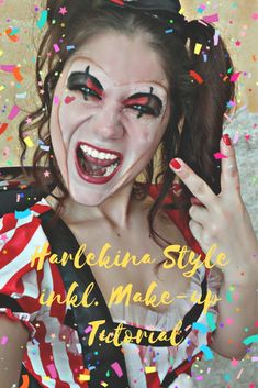 Make-up Tutorial - View of my Life Mascara, Carnival, Halloween Face Makeup, Make Up, Lifestyle, Blog, Red, Big Top, Dress Up