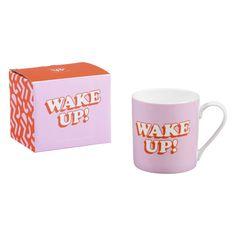 """""""Wake Up!"""" Mug – Nifty Gifts ZA Cath Kidston Kitchen, Online Supermarket, Matching Gifts, China Mugs, Espresso Cups, Mug Cup, Bone China, Wake Up, Flask"""