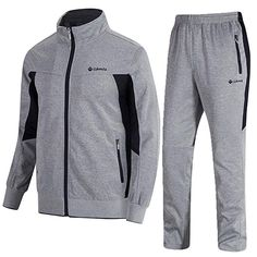 Buy Vertical Sport Men's 2 Piece Jacket & Pants Slim Fit Jogging Track Suit at Discounted Prices ✓ FREE DELIVERY possible on eligible purchases. Mens Tracksuit Set, Mens Joggers, Casual Wear For Men, Sport Casual, Athletic Outfits, Athletic Wear, Nike Outfits, Sport Outfits, Adidas Outfit