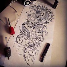 "Gefällt 88 Mal, 4 Kommentare - Dzeraldas Jerry Kudrevicius (@atlantic_coast_tattoo) auf Instagram: ""Finally finished #mendi #mendidesign #mandala #mandalatattoo #tattooideas #drawing #sketch…"""