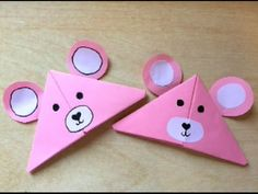 How to make Corner bookmark designs Easter Bunny Bookmark. How to make a bunny bookmark. Winter Crafts For Kids, Craft Projects For Kids, Diy For Kids, Teddy Bear Crafts, Diy Teddy Bear, Bookmark Craft, Origami Bookmark, Paper Bookmarks, Corner Bookmarks