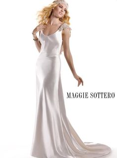 Emilena gown front by Maggie Sottero  <3 comes with headband!