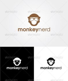 Monkey Nerd - Logo Template - GraphicRiver Item for Sale