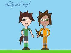 Philip and Angel the Werewolf Siblings (MCSM ocs)