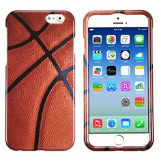 "myLife Pumpkin Orange and Bat Black {Sports Basketball Ball} 2 Piece Snap-On Rubberized Protective Faceplate Case for the NEW iPhone 6 (6G) 6th Generation Phone by Apple, 4.7"" Screen Version ""All Ports Accessible"" myLife Brand Products http://www.amazon.com/dp/B00U0JJVZQ/ref=cm_sw_r_pi_dp_j0gfvb18PAWZQ"