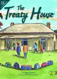 By LeAnne Orams, illustrated by Roger Twiname....Olley visits The Treaty House at Waitangi, and gets a huge surprise when the house itself begins to answer his questions. Both author and illustrator have taken care to reproduce accurate visual representations of the eras covered in the book.