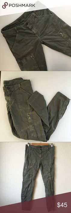 J Brand Ella Mae Cargos J Brand Ella Mae skinny cargo pants in olive. Good condition.   Approximate measurements Inseam - 29 in Waist - 15 in Front Rise - 8 in Back Rise - 13 in J Brand Pants Skinny