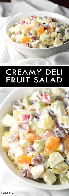 A creamy and luscious fruit salad that is perfect for summer and potlucks!