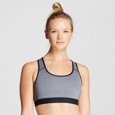 46a33cc410e31 Women s Power Core Sports Bra - Gray Heather XS - C9 Champion Sportswear