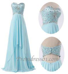 Prom Dress Ice Blue
