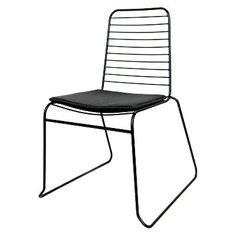 Wire Stacking Dining Chair Black Set Of 2