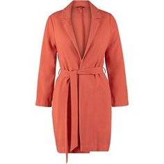 Miss Selfridge Krótki płaszcz brown