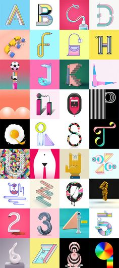 A To Zoë By Tommy Perez Typography Shapes And Typo - Amazing 3d artwork dani aristizabal