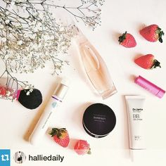 """Love love love @halliedaily and her current beauty favorites #repost via @repostapp.・・・My current beauty favorites: the new fragrance by @DonnaKaran named """"liquid cashmere"""" (read the name and you know why I like it); new techn """"DNA repair enzymes serum"""" by @dnaegfskincare; @freshbeauty lip balm -- I have almost every shade of them; @drjartth BB beauty balm with SPF 30 is very good for the L.A. weather & gives good coverage; last but definitely not least, I put on the @bareminerals…"""