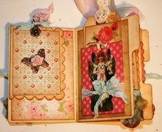 mini file folders for scrapbooking | ... Beautiful Scrapbooking: Shabby Garden fairy Mini File Folder Album