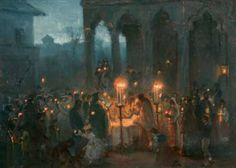 Theodor Aman - Service at Stavropoleos Church, Bucharest Lanterns, Drawings, Inspiration, Paintings, Easter, Google, Bucharest, Culture, Romania