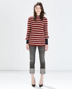 STRIPED SWEATER-Knitwear-WOMAN-SALE