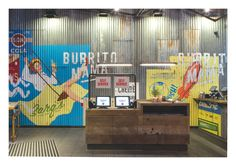 The team behind Mexican restaurant chain Wahaca is launching new restaurant Burrito Mama, with branding by BuroCreative and interior design by Softroom. Pub Design, Retail Design, Restaurant Branding, Cafe Restaurant, Restaurant Design, Mexican Restaurant Decor, Mexican Bar, Wahaca, Decoration For Ganpati