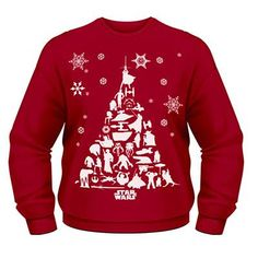 Product code: Can you feel it? Yes the countdown to Christmas has begun! Get in the festive mood early with the Star Wars Christmas Tree Jumper. In a vibrant Santa Claus red, the sweater features a hoard of classic characters and machines from Star Wars Christmas Sweater, Star Wars Christmas Tree, Christmas Knitting, Xmas Tree, Christmas Sweaters, Christmas Stuff, Winter Christmas, Merry Christmas, Star Wars Silhouette