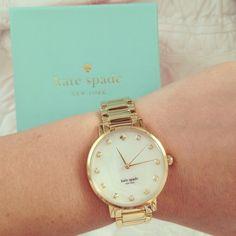 kate spade Grammercy Street Bracelet Watch $225.00 I want a kate spade watch for my highschool graduation ♥️