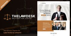 Law Desk - Lawyer Attorney WordPress Theme by CrunchPress The LawDesk WordPress theme is designed for different Law Firms, Lawyers, Attorneys, and other corporate Businesses. With LawDesk,
