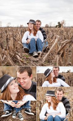 earthy engagement session