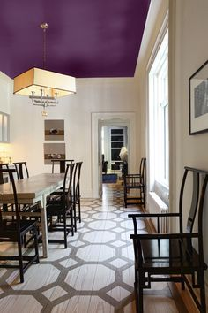Reinvent a Room by Painting the Ceiling With Color - This Old House Behr Colors, Wall Colors, Color Walls, Paint Colors, Cleaning White Walls, Wall Color Combination, Accent Ceiling, Colored Ceiling, Ceiling Color
