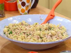 The sauce on this pasta salad is awesome.  Make it without the tuna; double the beans.  Yum!