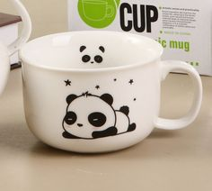Kawaii Blushing Panda Mugs / Cups