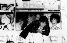The Go-Go's- Jane Drano, Margot Olaverra, Charlotte Caffey, Belinda Carlisle, Elissa Bello (Photographer unknown)