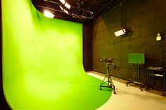 A proper greenscreen: one that is painted, and no hard edges. Also we can get green tape and make tracking markers! -fred
