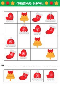 Educational worksheet for preschool kids... | Premium Vector #Freepik #vector #christmas #school #party #kids Montessori Activities, Infant Activities, Activities For Kids, Sudoku Puzzles, Puzzles For Kids, Kindergarten Math Worksheets, Worksheets For Kids, Scissor Skills, Newspaper Crafts