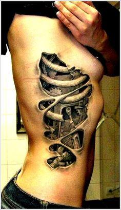 Biomechanical tattoo design (3) #tattoosforwomenonside
