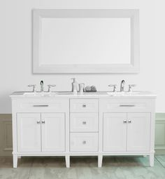 Share to get $5 off Stufurhome 72 inch Christine Double Sink Vanity with Travertine Marble Top with Mirror
