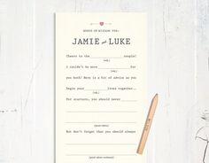 Wedding AdLibs Guestbook Alternative. so cute!