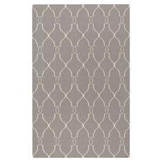 Anchor your living room or define a space in your master suite with this hand-woven wool rug, showcasing a trellis motif in taupe and cream....