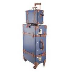 """CO-Z Premium Vintage Luggage Sets 24"""" Trolley Suitcase and 12"""" Hand Bag Set with   Travel, Luggage   eBay!"""