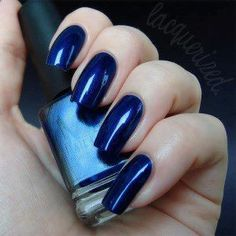 Night blue nails pinned with @PinvolveLove