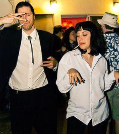 Look Pulp Fiction, Mia Wallace e Vincent Vega, para curtir o Carnaval em dose dupla.