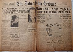 The Johnstown Tribune - World War II: April 7, 1943: BRITISH AND YANKS ARE CHASING ROMME...