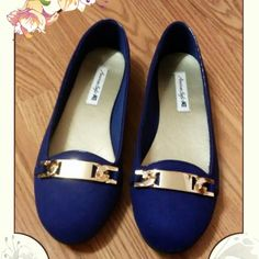Beautiful blue flats Beautiful flats from American Eagle Size 6.5 American Eagle Shoes Flats & Loafers