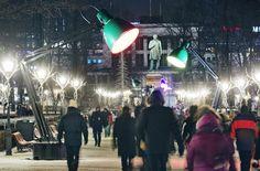 Valofestivaali Lux Helsinki Esplanadin puisto TILT: Lampounette