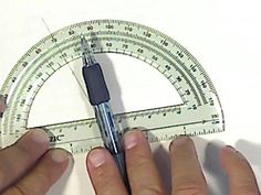 MATH: How to use a protractor to measure and draw angles. Fourth Grade Math, 4th Grade Classroom, Drafting Tools, Area And Perimeter, Protractor, Math Journals, Math Workshop, Free Math, Homeschool Math