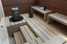 The Himalaya Rock Tower Sauna Heater creates the perfect sauna. Sauna Heater, Saunas, Locker, Outdoor Decor, Room, Bedroom, Steam Room, Rooms, Rum
