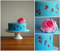 Rose Cake by deLucious Hand Painted