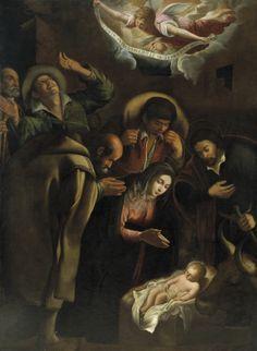 Antonio de Lanchares (1586/1590-1630/1640)  —  The Adoration of the Shepherds : Museo Nacional del Prado, Madrid. Spain  (280x1749)