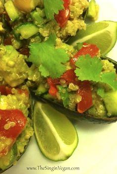 Quinoa Salad Stuffed Avocados from The Singin' Vegan